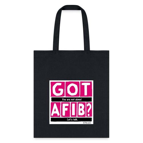 cutter got afib lets talk - Tote Bag
