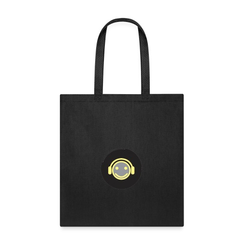music happy face record - Tote Bag