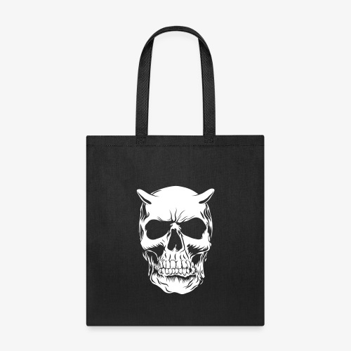 Big Face skull negatif - Tote Bag