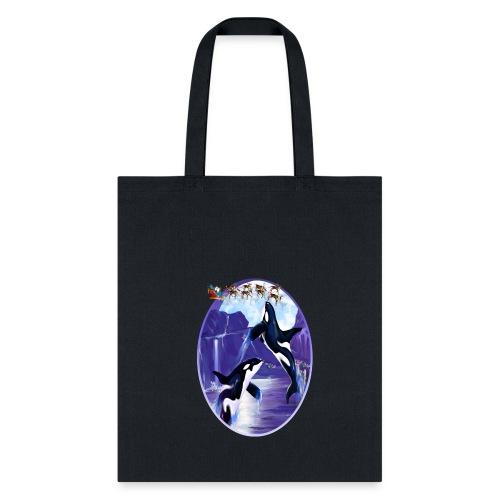 Orca Christmas Oval - Tote Bag