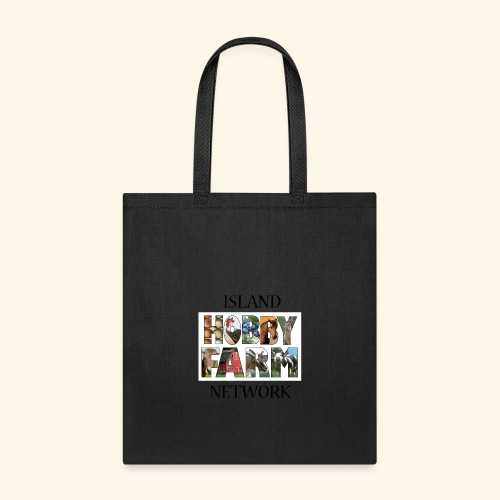 Island Hobby Farm Black Logo - Tote Bag
