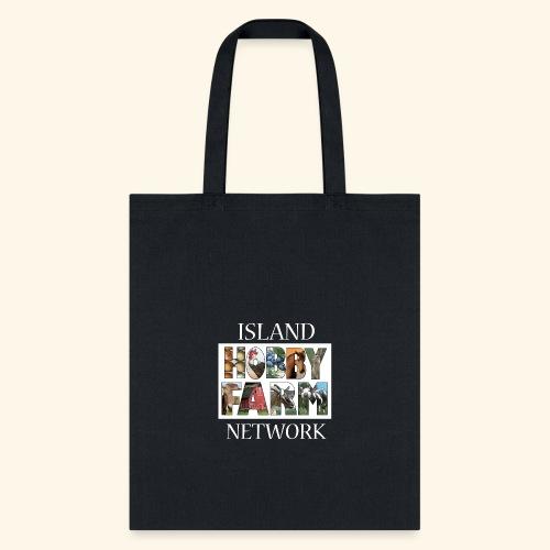 Island Hobby Farm White Logo - Tote Bag
