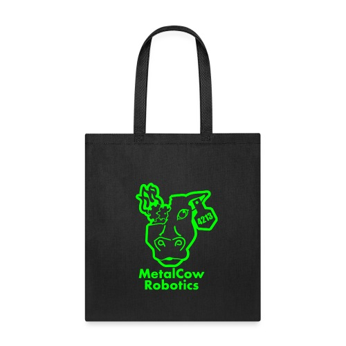 MetalCowLogo GreenOutline - Tote Bag