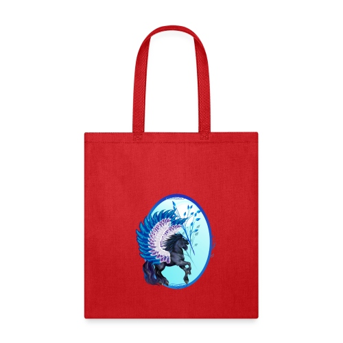 Blue Winged Pegasus Oval - Tote Bag