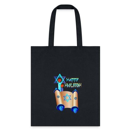 Happy Hanukkah and Torah - Tote Bag