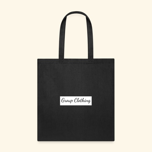 Cursive Black and White Hoodie - Tote Bag