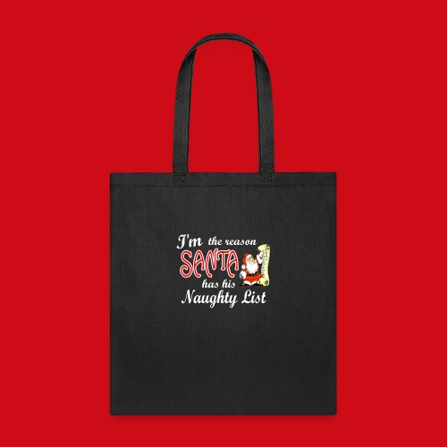 Santa Naughty List - Tote Bag
