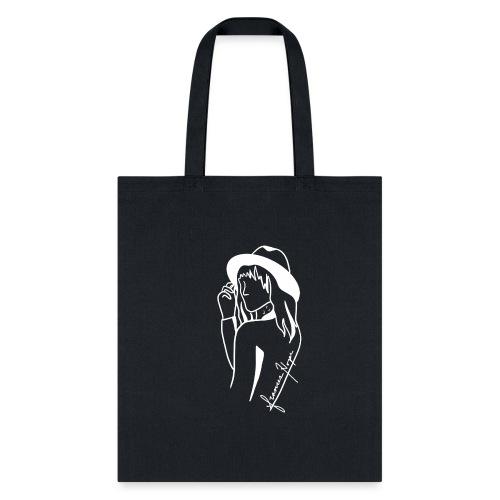 Minimal White Line - Tote Bag