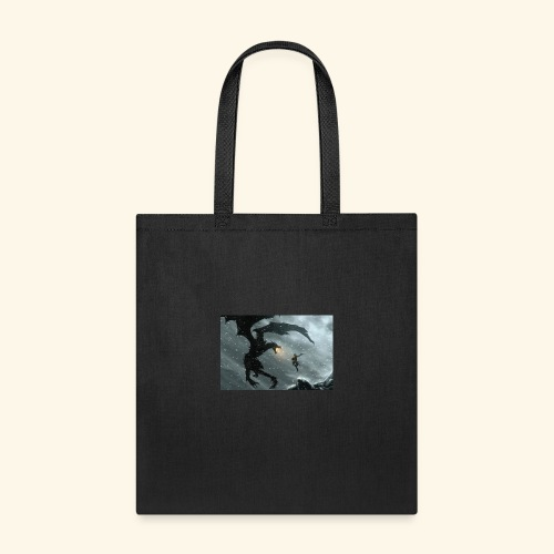 elderscrolls dragon fight- Meme Worthy Apparel - Tote Bag