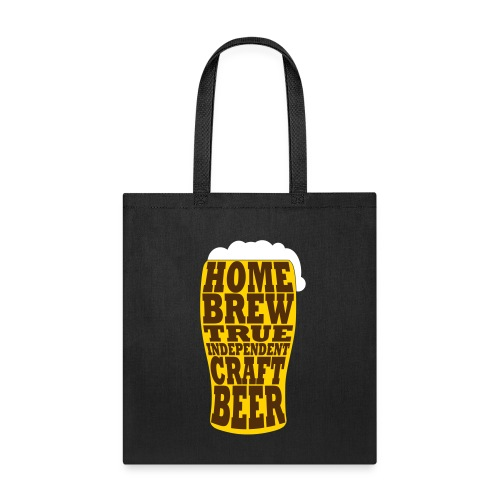 Home Brew True Indie. Beer Glass - Colour - Tote Bag