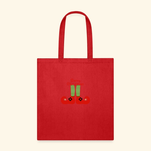Elf Feet Merry Christmas Design - Tote Bag
