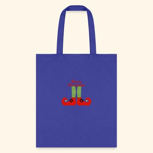 Elf Feet Merry Christmas Design - Tote Bag