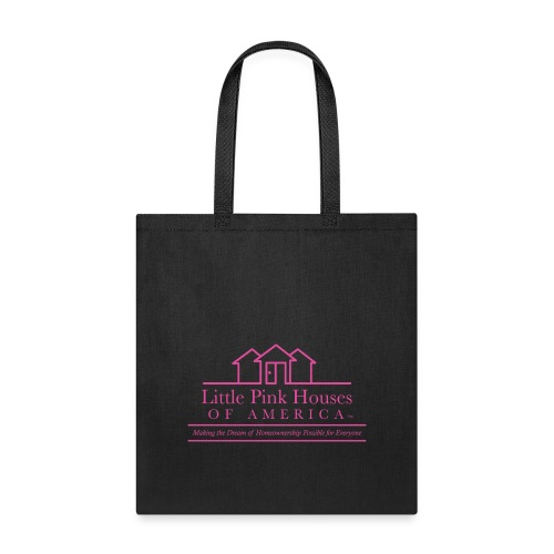 little pink houses logo pink png - Tote Bag