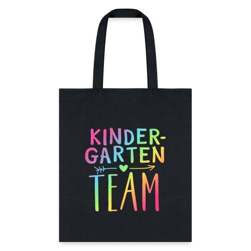 Kindergarten Team Neon Rainbow Teacher T-Shirts - Tote Bag