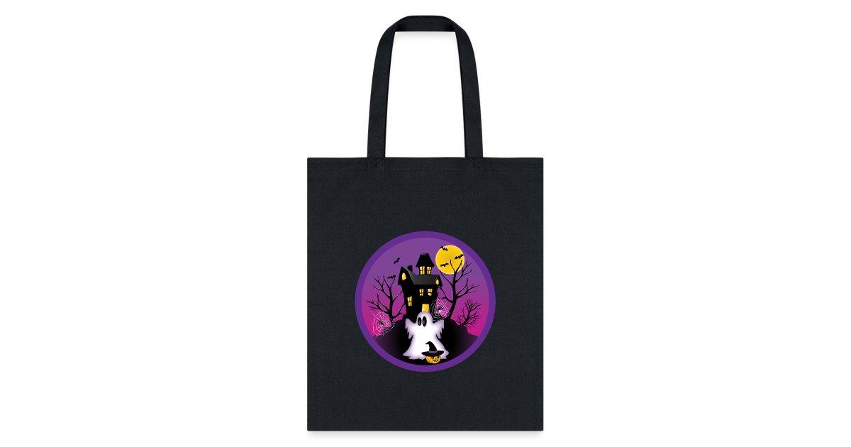Haunted Halloween Spooky Fantômes Fête Trick or Treat Feutre Tissu Sac Fourre-tout