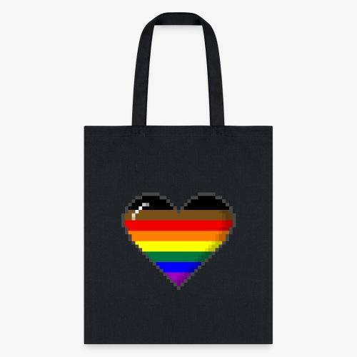 Philly LGBTQ Pride 8Bit Pixel Heart - Tote Bag
