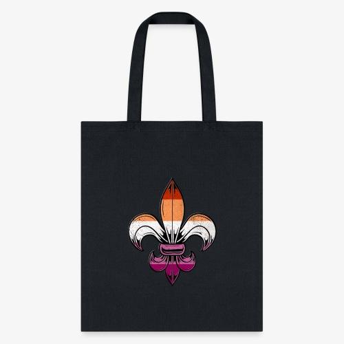 Lesbian Pride Flag Fleur de Lis - Tote Bag