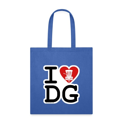 I Love (Heart) Disc Golf Shirt & Accessories - Tote Bag