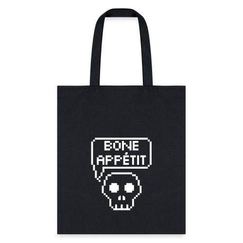 Bone Appetit (White Outline) - Tote Bag
