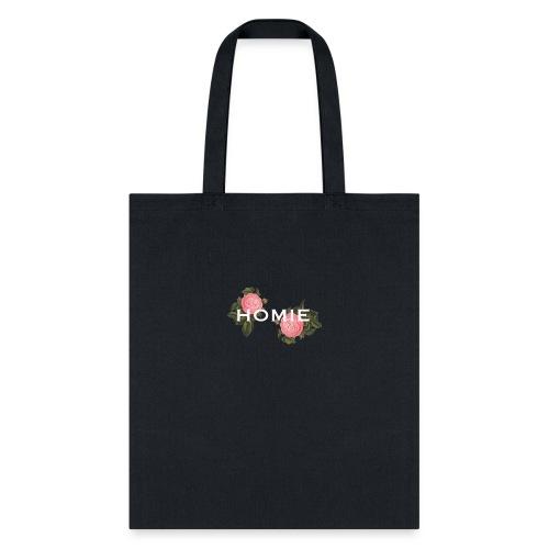 HOMIE WHT PNK ROSE - Tote Bag