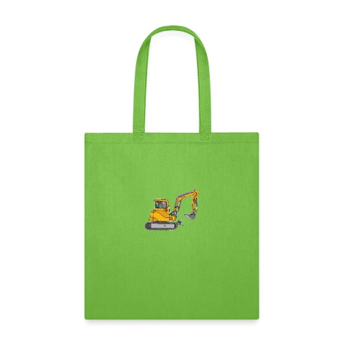 Yellow digger, excavators - Tote Bag