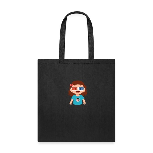 Girl red blue 3D glasses doing Vision Therapy - Tote Bag