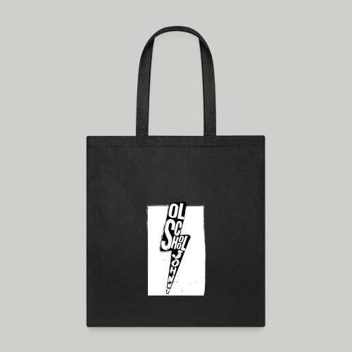 Ol' School Johnny Black and White Lightning Bolt - Tote Bag