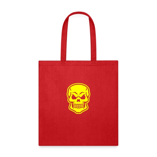 Skull vector yellow - Tote Bag