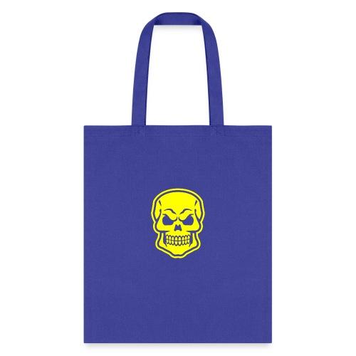 Skull vector yellow - Tote Bag