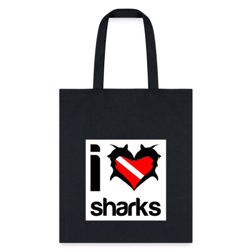 bag i love sharks - Tote Bag