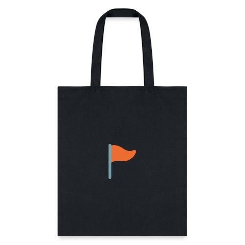 7947 triangular flag on post - Tote Bag
