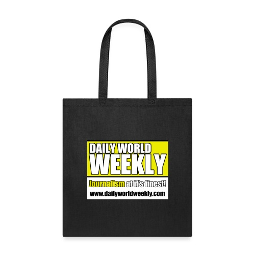 daily world weekly banner tagline web addy - Tote Bag