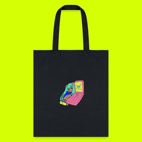 flip phone girl - Tote Bag