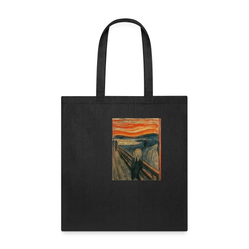 The Scream (Textured) by Edvard Munch - Tote Bag