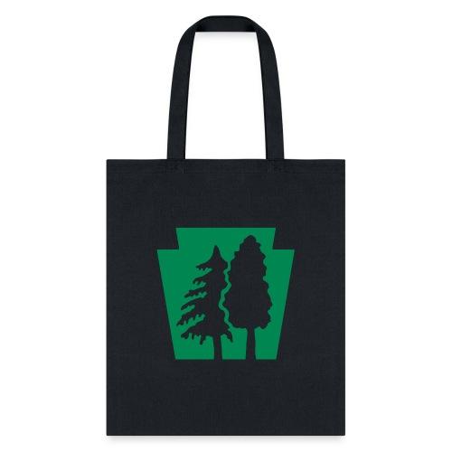 PA Keystone w/trees - Tote Bag