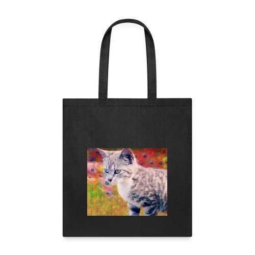 Grey Poppy Love (Tote bag) ln Lime Green - Tote Bag