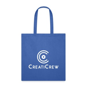 CreatiCrew Logo w/ Text (White) - Tote Bag