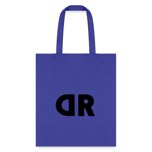 DUBBRICHARD BLACK ON BLUE - Tote Bag