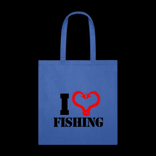 02 I heart fishing BLACK - Tote Bag