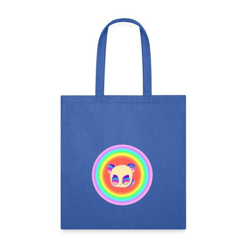 Panda Baby Lies Down Rainbow - Tote Bag