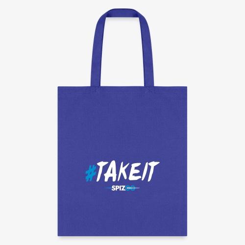 #takeit white - Spizoo Hashtags - Tote Bag
