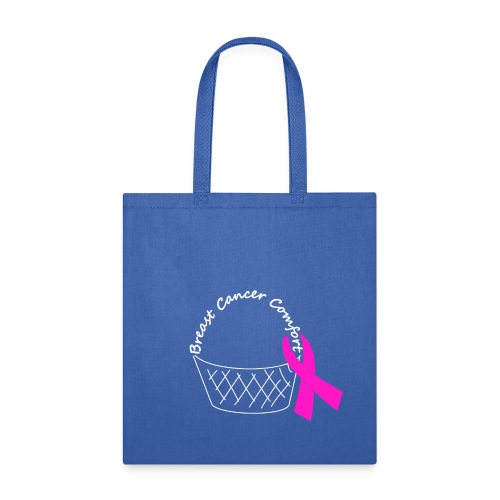 White Comfort Basket - Breast Cancer - Tote Bag