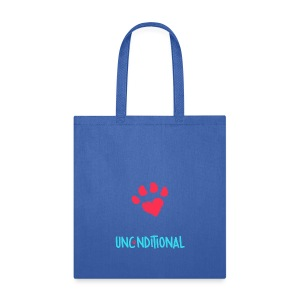Project Unconditional Love Paw with Logo - Tote Bag