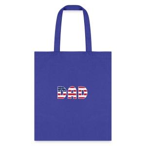 DAD + US Flag - Tote Bag