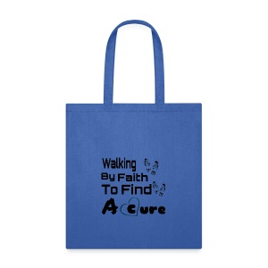 Walking By Faith Lupus Awareness Graphic Tee - Tote Bag