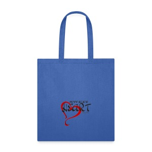 SWEETHEART BLACK & RED by: Roland Ross - Tote Bag