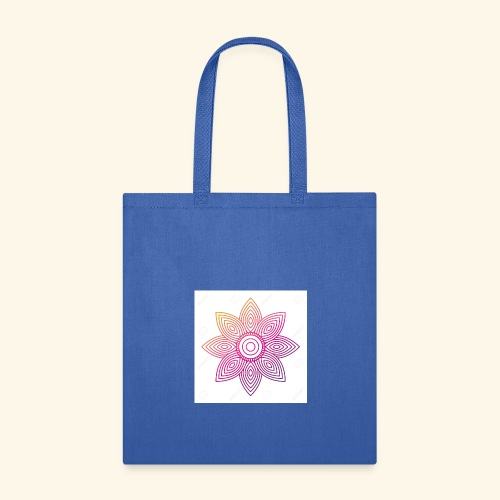 93874310 floral mandala round ornament for adult c - Tote Bag