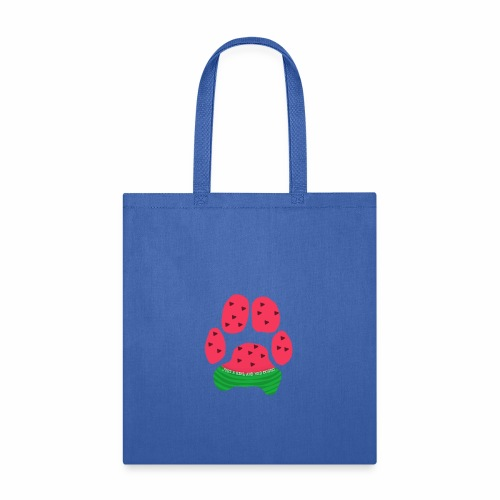 Just A Girl And Her Doggo Watermelon Paw Print - Tote Bag