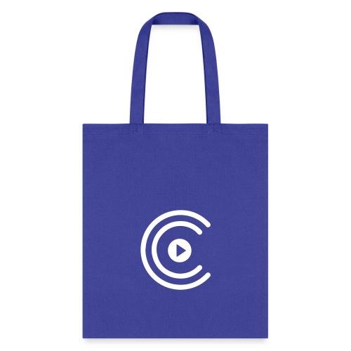 CreatiCrew Logo (White) - Tote Bag