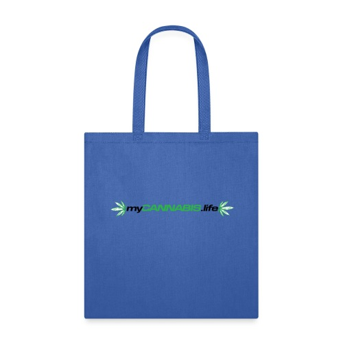 myCANNABIS.life Black Text - Tote Bag